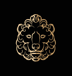 Image a stylized lion head vector