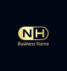 Initial letter nh logo template design vector
