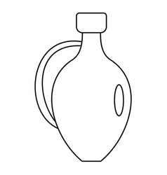 jug for wine icon outline style vector image