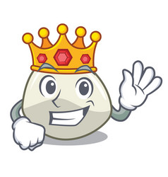 King mozzarella cheese isolated on mascot cartoon vector