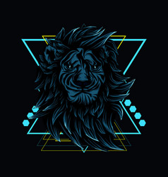 Lion roar sacred geometry vector