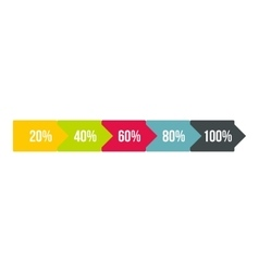 Long arrow infographics flat style vector
