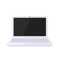modern laptop design in black and white color vector image