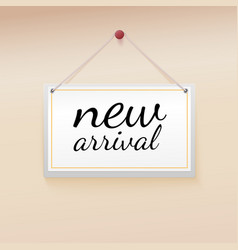 New arrival tag vector