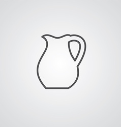 pitcher outline symbol dark on white background vector image