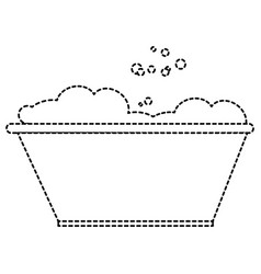 plastic laundry container with foam vector image