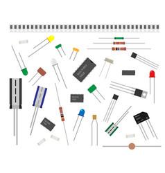 Radio parts set spare parts for service repair vector