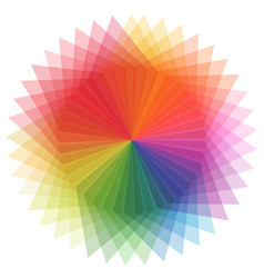 Rainbow color in star shape vector