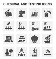Robot Chemical Lab vector image