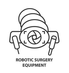 robotic surgery icon vector image