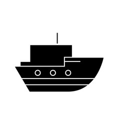 ship in sea icon sign vector image