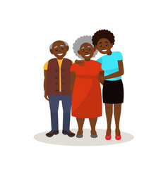 smiling afro american black elderly couple and vector image