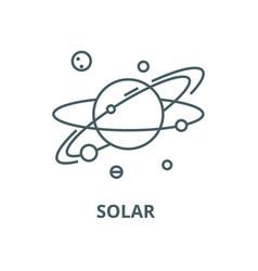 solar line icon linear concept outline vector image