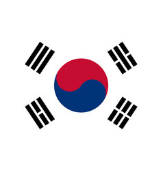 south korean flag flat layout vector image