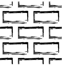 stylized brick wall pattern bw vector image