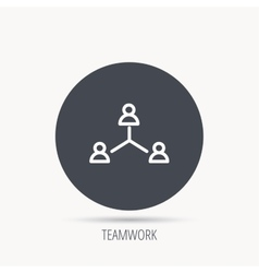 Teamwork group icon Business community sign vector image