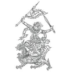 Thai yantraHanaman vector