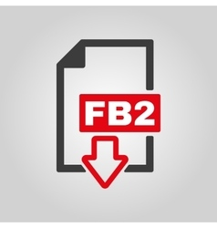 The FB2 icon File format symbol Flat vector image