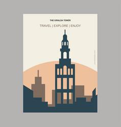 The giralda tower seville spain vintage style vector