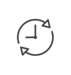 time line icon vector image