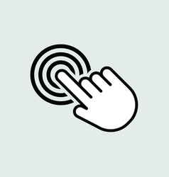 touch icon isolated for graphic and web design vector image