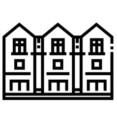 Townhouse line vector