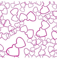 Two hearts seamless pattern love wrapping texture vector