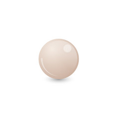 White billiard ball vector