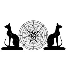 wiccan symbol of protection set of mandala wicca vector image