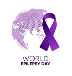 World epilepsy day vector image