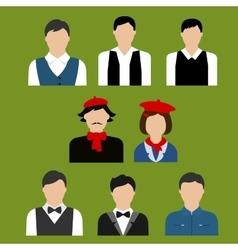 Art and culture professions flat avatars vector image