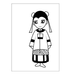 Chinese women cartoon vector image vector image