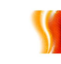 Orange sunburst background template vector image vector image