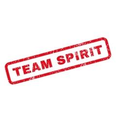 Team Spirit Rubber Stamp vector image vector image