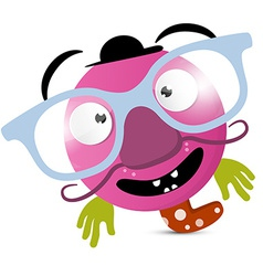 Abstract Funny Avatar - Creature with Glasses vector image