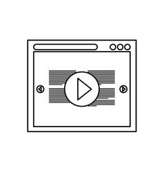 Online video media vector image vector image