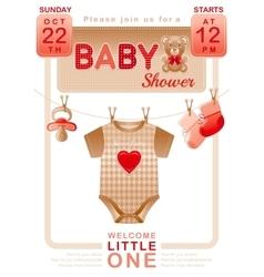 Baby shower unisex invitation design for boy or vector image