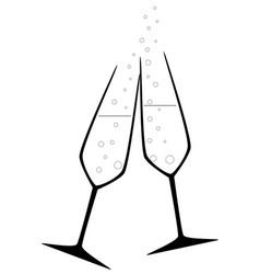 Celebration drink vector