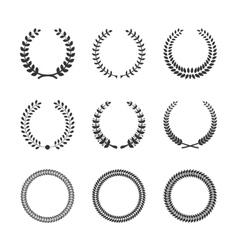 Circular Laurel Wreaths vector image