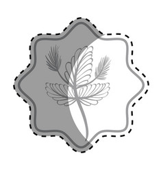 emblem rustic flower decoration design vector image vector image