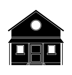 Familiy house countryside pictogram vector