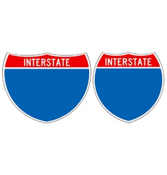 Interstate road signs vector image vector image