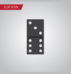 isolated domino flat icon bones game vector image