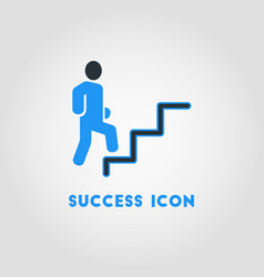 simple business icon of career path career vector image