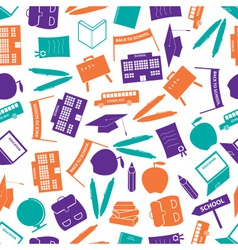 school icon color pattern eps10 vector image