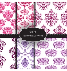 Set of seamless luxury patterns vector image vector image
