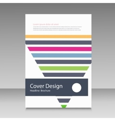 Triangle line brochure cover vector image
