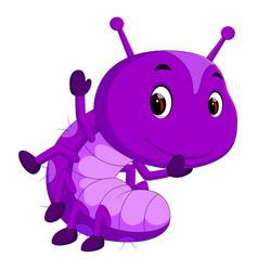 A purple caterpillar cartoon vector