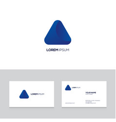abstract logo design on business card template vector image