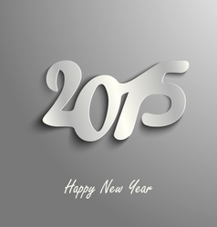 Abstract New Year card on a gray template vector image